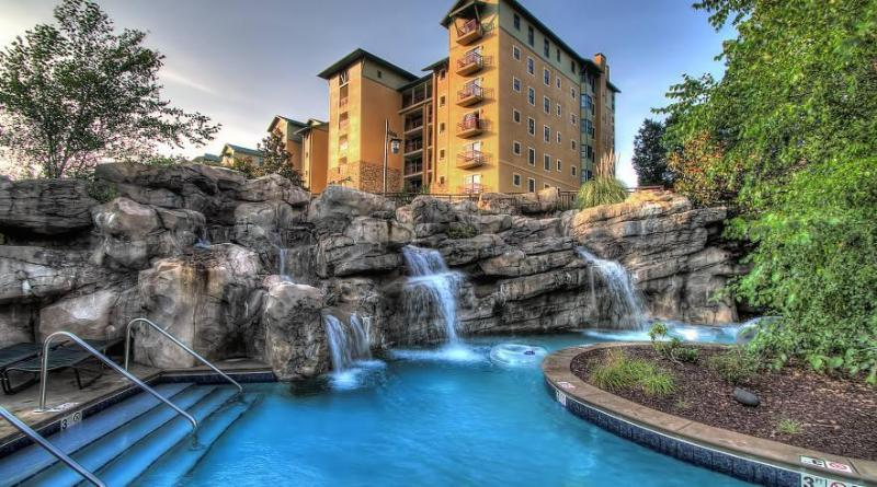 RiverStone Resort - View from Lazy River - RiverStone Resort 4 Bedroom, 4 Bath Luxury Condo - Pigeon Forge - rentals