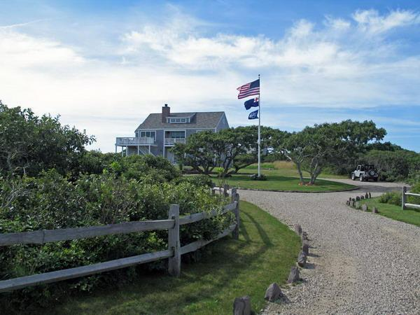 Coming up the driveway to the house - Sunny home on 3 acres w/ panoramic ocean views - Nantucket - rentals