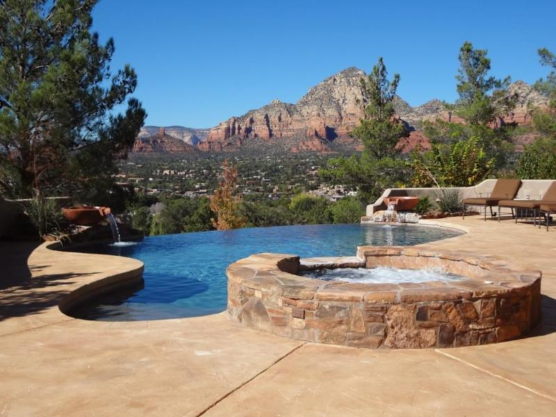 Views durng the day, shooting stars at night - Heated..Pool..Spa..Views..Luxury.. Red Rock Vistas - Sedona - rentals