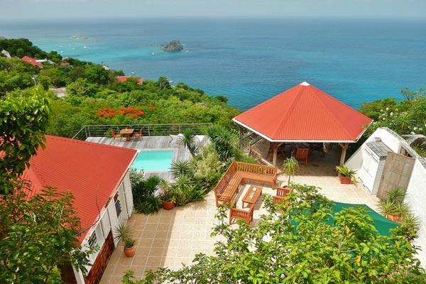 Charming villa offering dramatic views over Gustavia	 WV BAL - Image 1 - Colombier - rentals