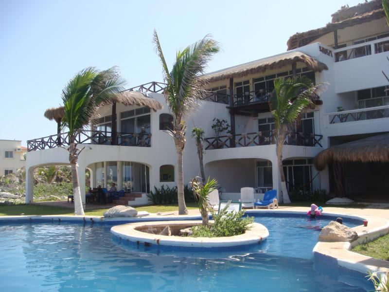 pool - Super holidays on 3BR Oceanfront Pent-House 10 pax - Akumal - rentals