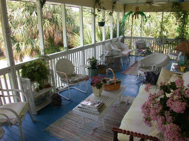 enjoy sitting on the porch with family and friends - Best  porch on Tybee updated vintage cottage  e - Tybee Island - rentals