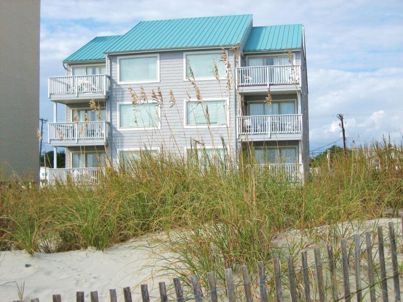 Ocean side of building - PET FRIENDLY OCEANFRONT CONDO -- SEAHOUSE VILLA B2 - North Myrtle Beach - rentals
