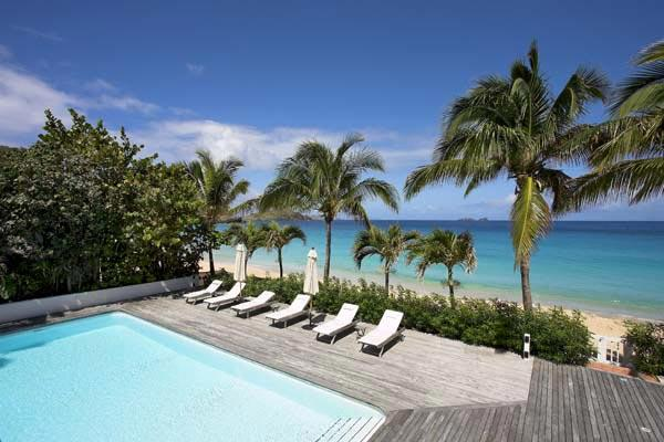 Directly on Flamands Beach, this large, open villa really lets the sea breeze in. WV ELA - Image 1 - Saint Barthelemy - rentals