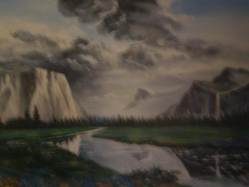 Hand-Painted Mural on Wall - Yosemite Condo Ideal for Budget Fun - Yosemite National Park - rentals