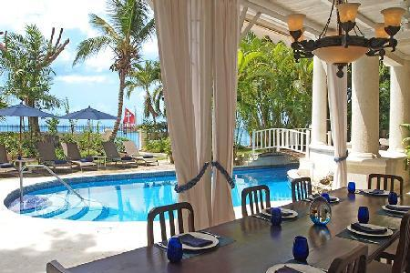 New Mansion steps to pristine beach with superb Caribbean views, pool & staff - Image 1 - Paynes Bay - rentals