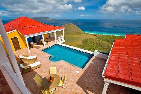 Sunny Side Up - Hillside villa offers breathtaking island & sea views, pool & fun - Image 1 - Belmont - rentals