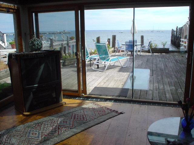View out the sliders at 75 C - Provincetown West End Waterfront - Provincetown - rentals