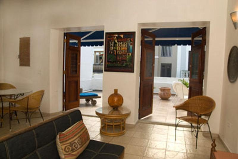 Front view to the terrace - 1 Bedroom Colonial Apartment with Large Terrace - San Juan - rentals