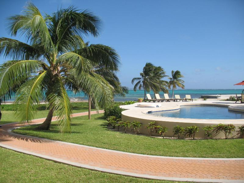 View from our Balcony - Unobstructed Bliss! - LUXURY CONDO ON AMBERGRIS...25 STEPS TO CARIBBEAN! - San Pedro - rentals