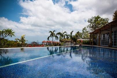 Swimming pool and view - VILLA CATTALEYA, 4BDR, OCEAN VIEW, June/July DEALS - Jimbaran - rentals