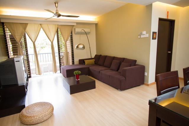 Living Room - Fully Renovated Designer Condo By The Beach - Batu Ferringhi - rentals