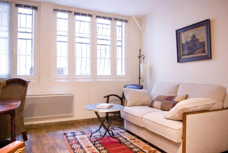 Charming living room with courtyard view - LOUVRE/MONTORGUEIL Easy, Historic & Delicious BnB - Paris - rentals
