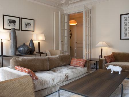 Living room - Luxurious Designer 3 Bedroom Apartment - Paris - rentals