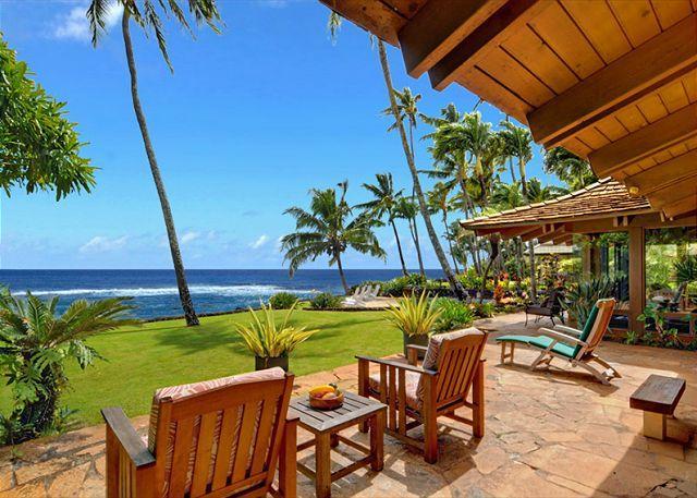 Ho`o Walea - Elegant 3 Bedroom Ocean Front Villa with a Pool - Image 1 - Poipu - rentals