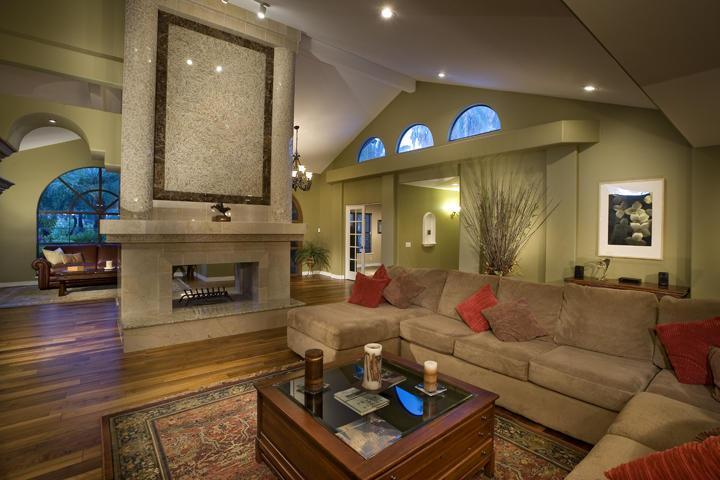 Spacious Living Room with Fireplace - Entertainment Galore! Heated Pool, Tennis Court! - Scottsdale - rentals