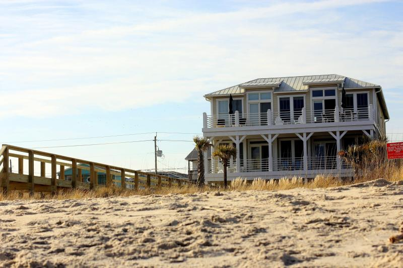 Exterior from the beach - Oceanfront Luxury on Kure Beach - Kure Beach - rentals
