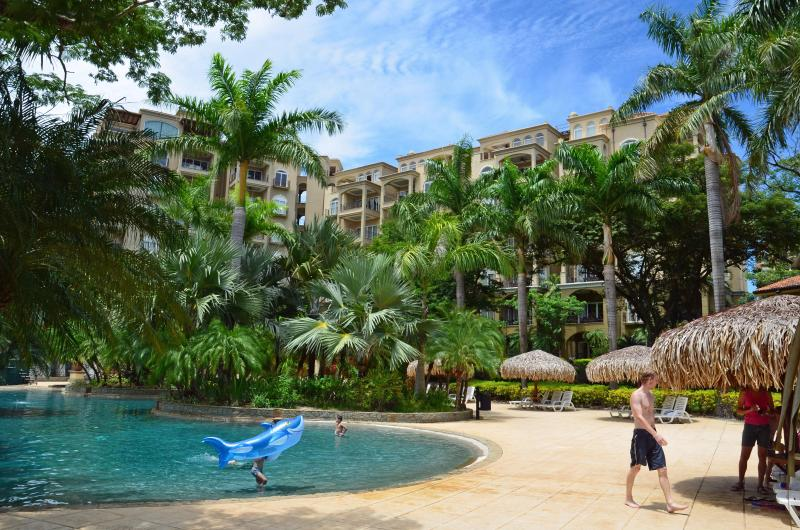 View of our Building Overlooking Pool - Beautiful Diria 3BR Condo - Tamarindo! - Tamarindo - rentals