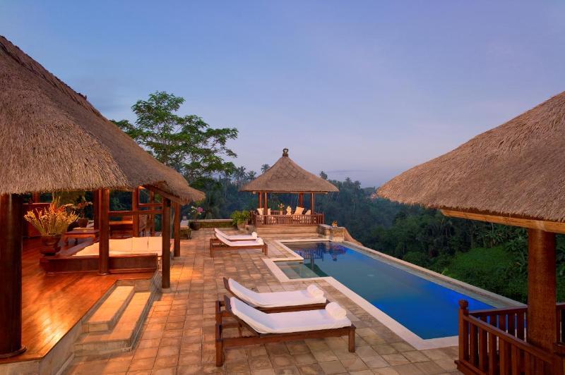 Villa Santai Ubud View of Pavilion, Patio, Massage Bale, and Pool - Villa Santai - Luxury 4 Bedroom - Dramatic Vistas - Ubud - rentals