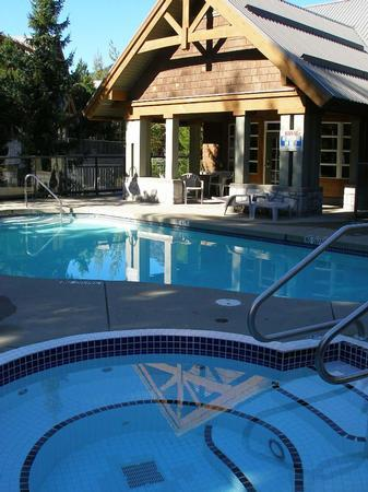 Complex pool and hot-tub. Steps from the unit. Please click 'photo gallery' for more photos of the property. - Sabrina and Daniel Lytton - Whistler - rentals