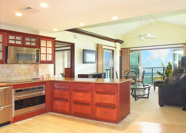 Waipouli #A-404: Luxurious 2 bdr/3 bath Penthouse Suite - Direct Ocean Views - Image 1 - Kapaa - rentals