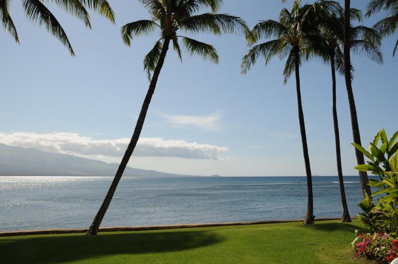 View from lanai of Haleakala Volcano - Best Oceanfront, LAULOA 111, Remodeled, HDTV, WIFI - Maalaea - rentals