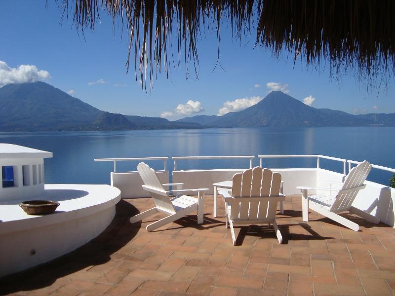 Terrace in front of living room - 5 Bedroom Villa - Amazing Volcano and Lake Views!! - Santa Catarina Palopo - rentals