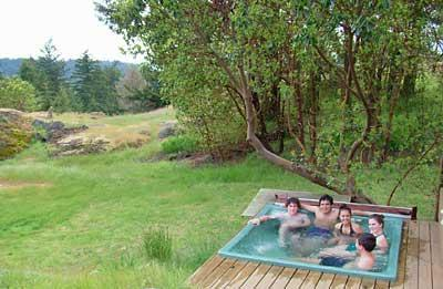 Private Hot tub at Sunny Knoll, view to Canada - Sunny Knoll Guest Suite - Friday Harbor - rentals