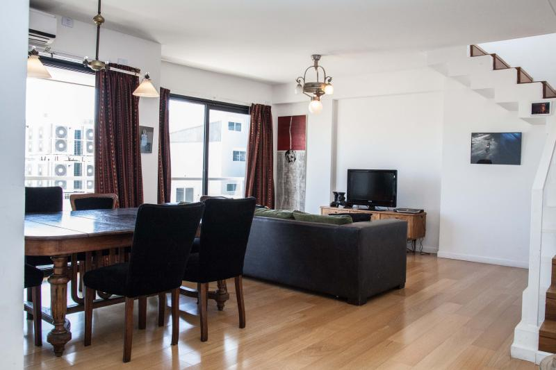 Living room with view of the city - **Palermo 2-Suite Penthouse priv. deck + jacuzzi** - Buenos Aires - rentals