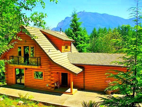 Welcome to Our Award Winning Log Home - 5-Star Luxurious Riverfront Log Home, Amazing View - Seattle - rentals