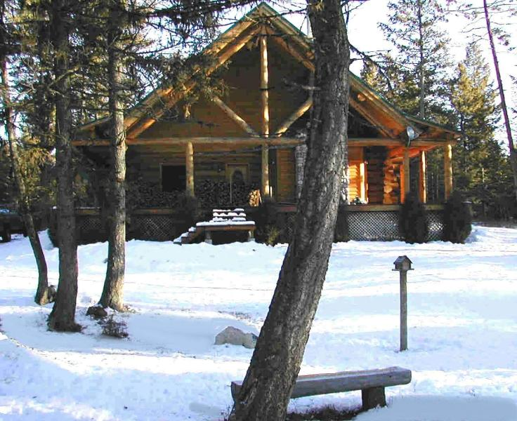 Front of House - Do you see 30 feet of VAULT - Beautiful Affordable BIG Custom Built Log Home - Whitefish - rentals