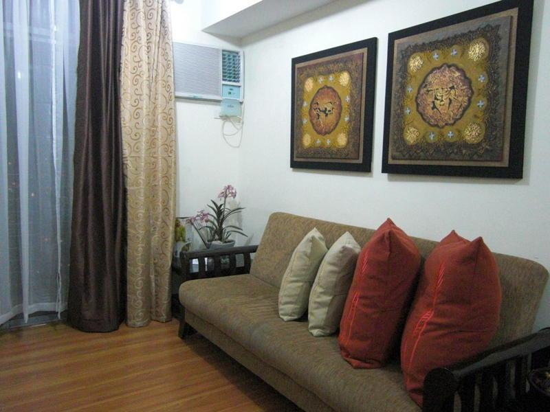 Living Room with Sofa Bed - Makati's Best 2BR  Luxury High-Rise Condotel Unit - Makati - rentals