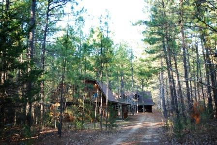 View of Guest House on Left & Main House Ahead - Retreat in the Pines - Mineola - rentals