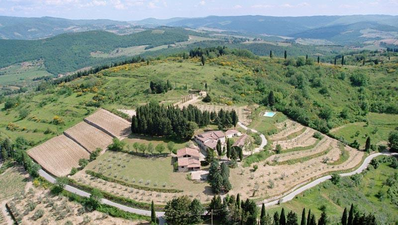 Air view - Stunning Country Villa at Montefili in Greve, Chianti - Greve in Chianti - rentals