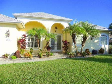 The Front of the Home - Luxurious Gulf Access Pool/Spa Home w/Games Room - Cape Coral - rentals