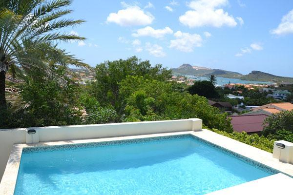 Beautiful views over the spanish water and tablemountain from your pool. - Curacao Luxury Villa Papilon - Curacao - rentals