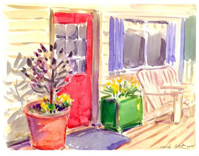 The Red Door - Eagle View Cottage - Bird Watcher's Paradise & Art - Salt Spring Island - rentals