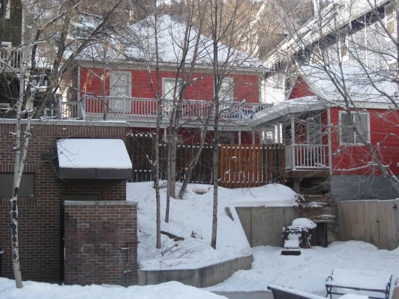 Back of house as seen from Miners Park - 416 Park Ave - Park City - rentals