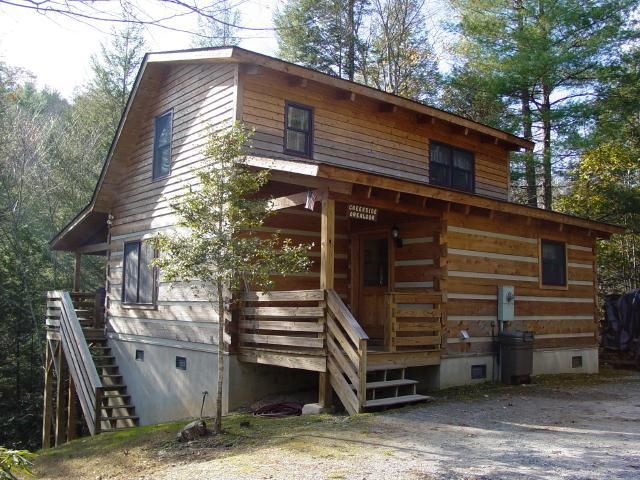 Creekside Overlook Cabin - Secluded Log Cabin Overlooking Creek - Boone Secluded Creek Cabin/Fishing/Hot Tub/FP/WiFi - Boone - rentals