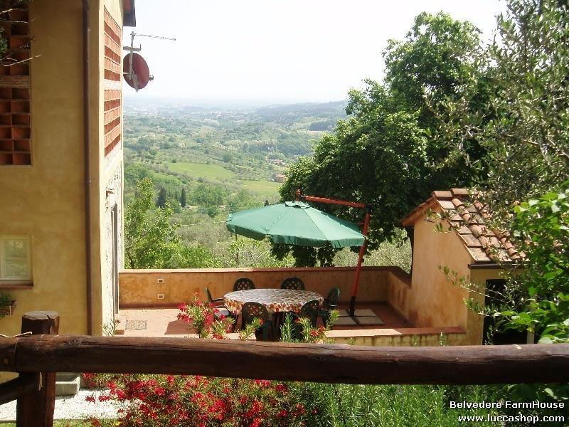 Fiordaliso House - The terrace and the stunning view - FIORDALISO LUCCA garden Pool & Stunning views WIFI - Lucca - rentals