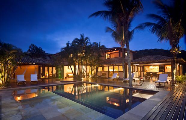 Villa Casa Boa Vista at Night - Staffed Villa, Ferradura Beach - 20% Discount - Buzios - rentals
