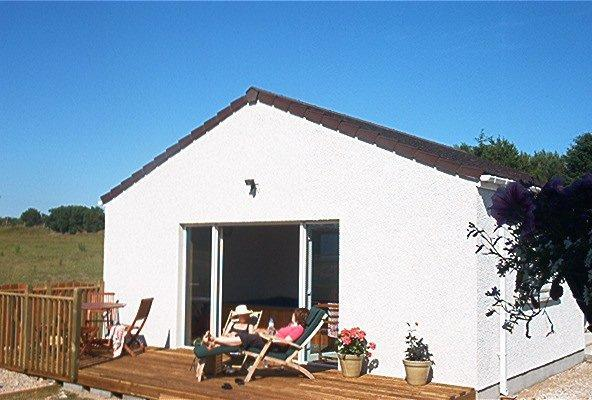 Decking outside the Fitness Room (with  heated pool & sauna) - 4 bedroom Cottage with Heated Pool in Dornoch - Dornoch - rentals