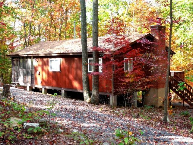 Approaching from driveway - Bonnie Brae Getaway Cabin - Private & Secluded! - New Market - rentals