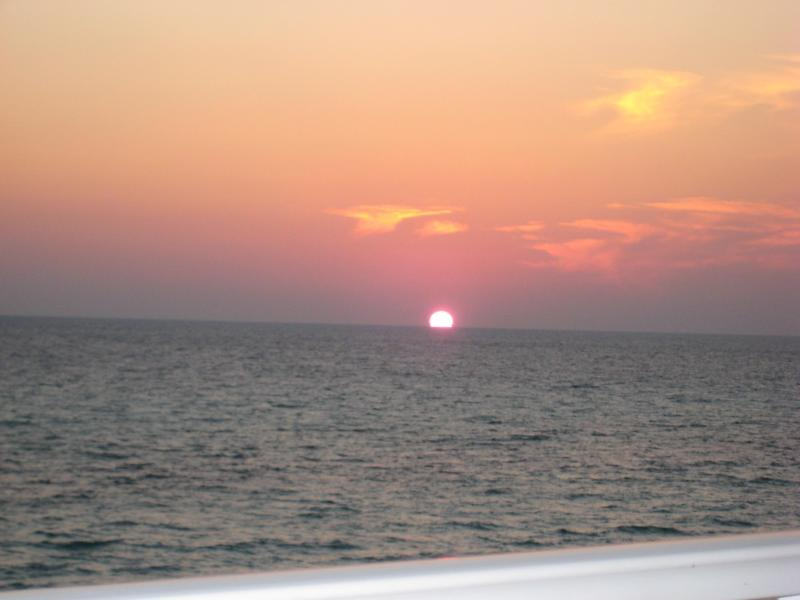 Sunset from our 3rd floor balcony - 3 Bedroom with Free Wifi at Tidewater Beach Resort - Panama City Beach - rentals
