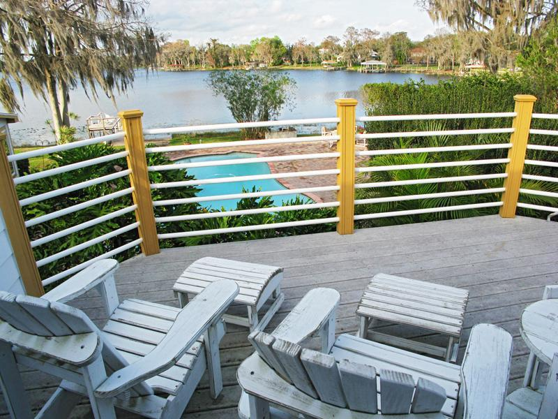 Beautiful balcony view overlooking pool, patio, & lake. - Lakefront Guest Apartment Winter Springs, Oviedo - Winter Springs - rentals