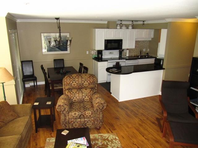 Spacious living room, dining room and kitchen. See our photo gallery for more pictures - Anne and Greg's Whistler Vacation Home - Whistler - rentals