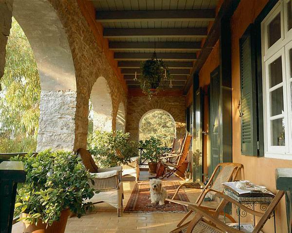 Entrance Verandah - Ieripetra - Symi - rentals