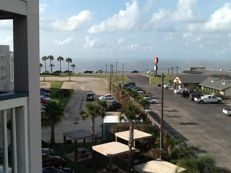 view from our balcony, morning, noon, and night - STRESS FREE ZONE  Galveston, TX rental - Galveston - rentals