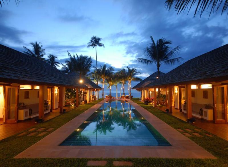 Baan Mika Villa - Main view at sunset - Baan Mika, Koh Samui Luxury Villa, Thailand - Chaweng - rentals