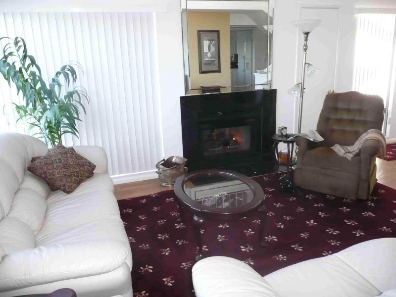 Living room & fireplace - Luxury San Diego Town Home - Central Location - Pacific Beach - rentals